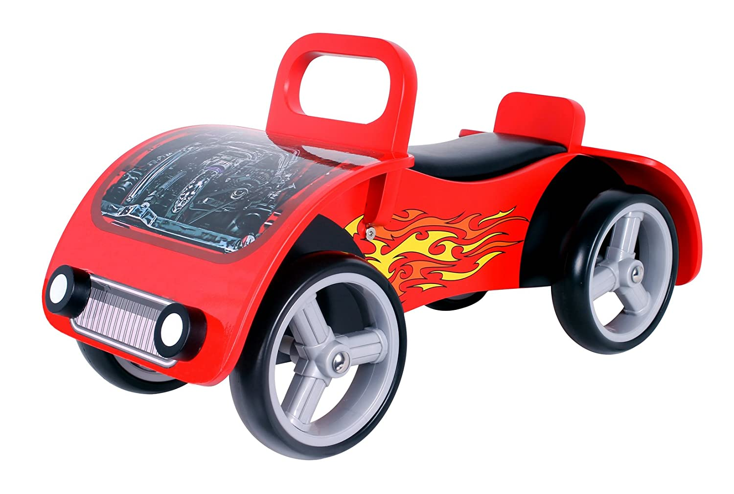 'Fire Bug' Wooden sit on / ride on car Kidzmotion