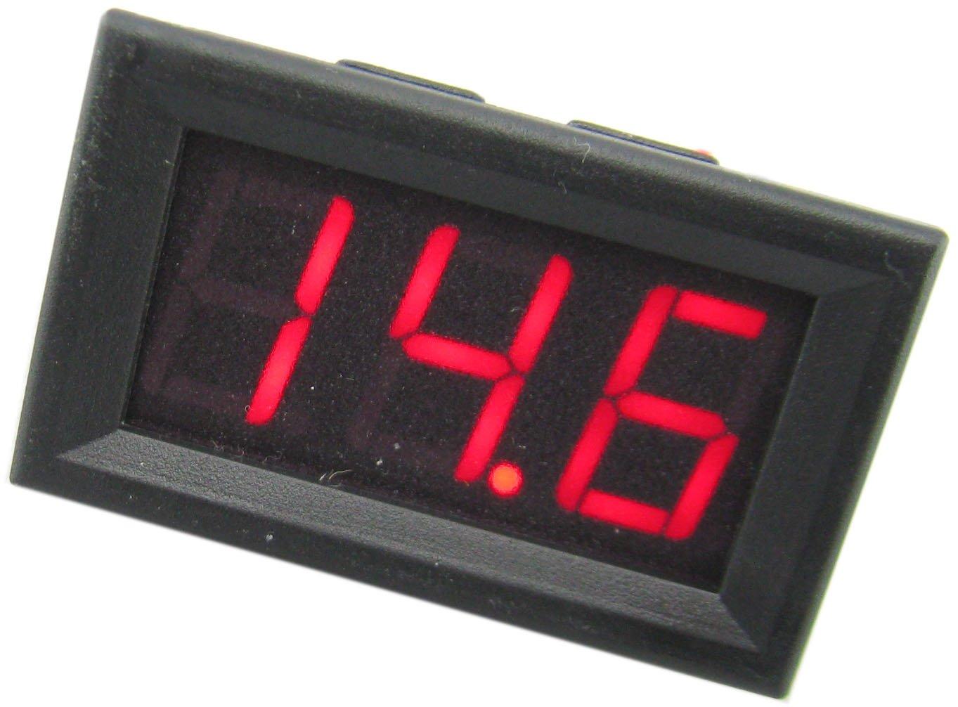 Yeeco Rot LED-Anzeige Digital Voltmeter 3-Draht 0,56 \
