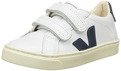3ece99f1a47 Veja Unisex Kids  Esplar Velcro Low-Top Sneakers White Size  10 Child UK
