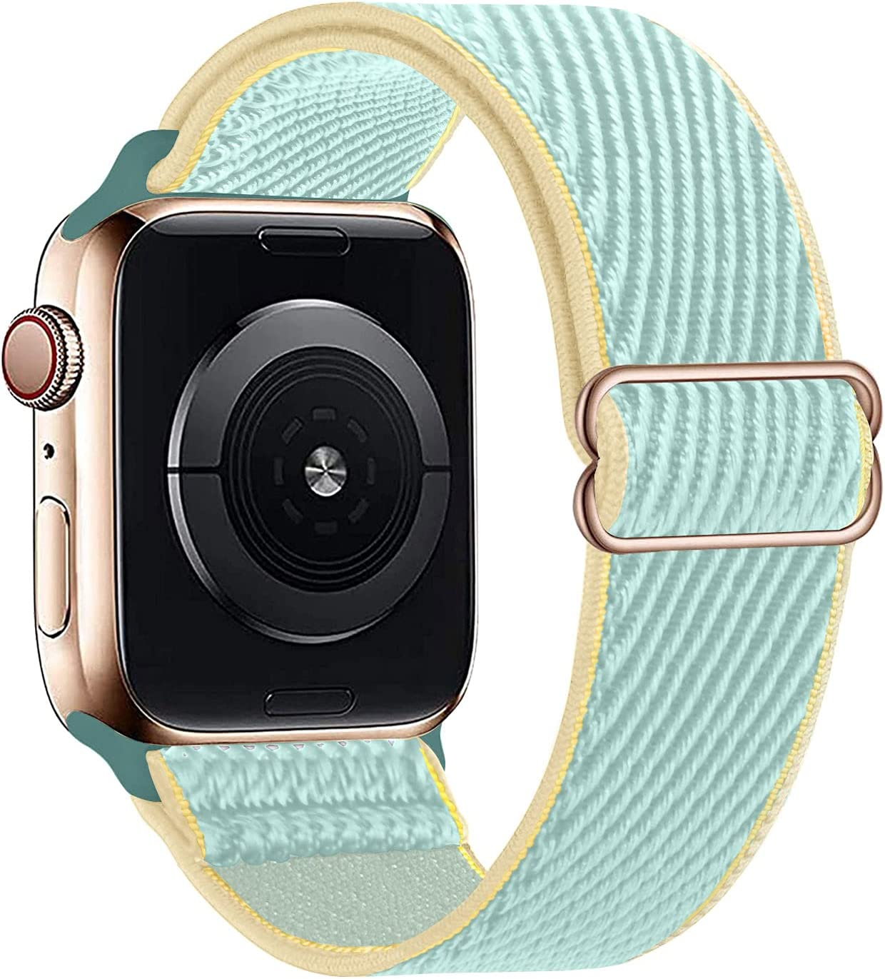 HdanMole Compatible with Apple Watch Bands 38MM 40MM 42MM 44MM Stretchy Solo Loop Strap,Adjustable Stretch Braided Elastics Nylon Wristband Compatible for iWatch Series 6/5/4/3/2/1/SE