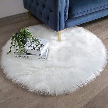 3 Tailles Doux Tapis de Mouton Peau Fausse Fourrure Chambre Canapé Fenêtre Rug