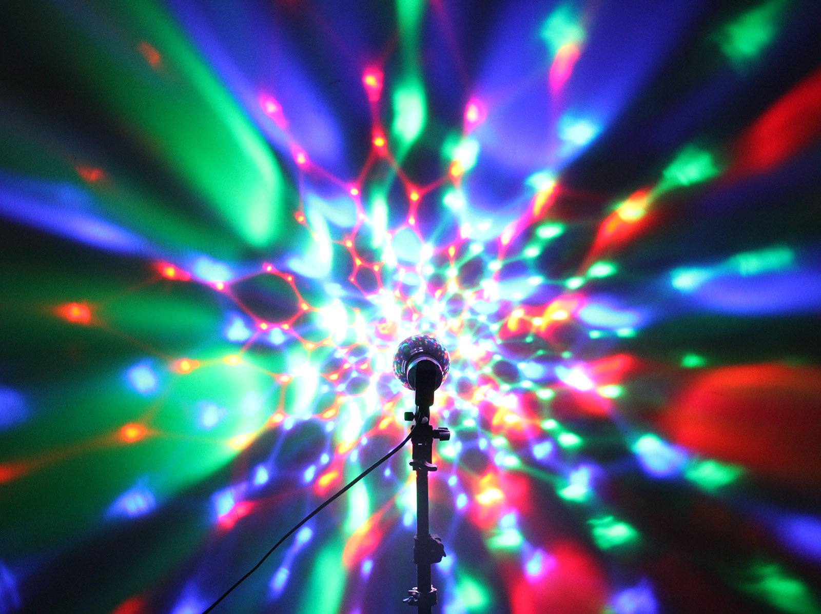OTTFF 3W E27 Disco Ball Lamp RGB Rotating LED Sound Activated Strobe Lights Party Bulb Stage Light for Family Parties,Birthday,Desk Lamp with Remote Control by OTTFF (Image #4)