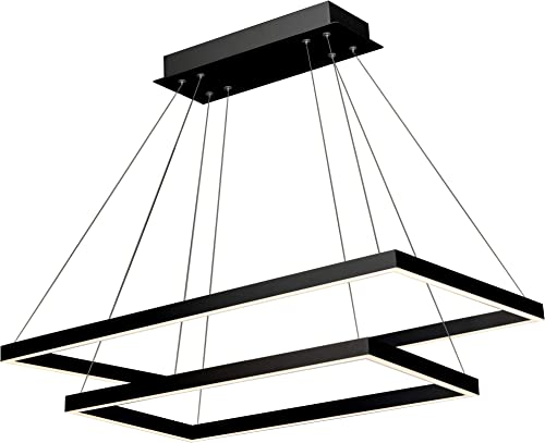VONN VMC31710BL Integrated LED Chandelier, 29.25 L x 17.25 W x 120 6 H, Black