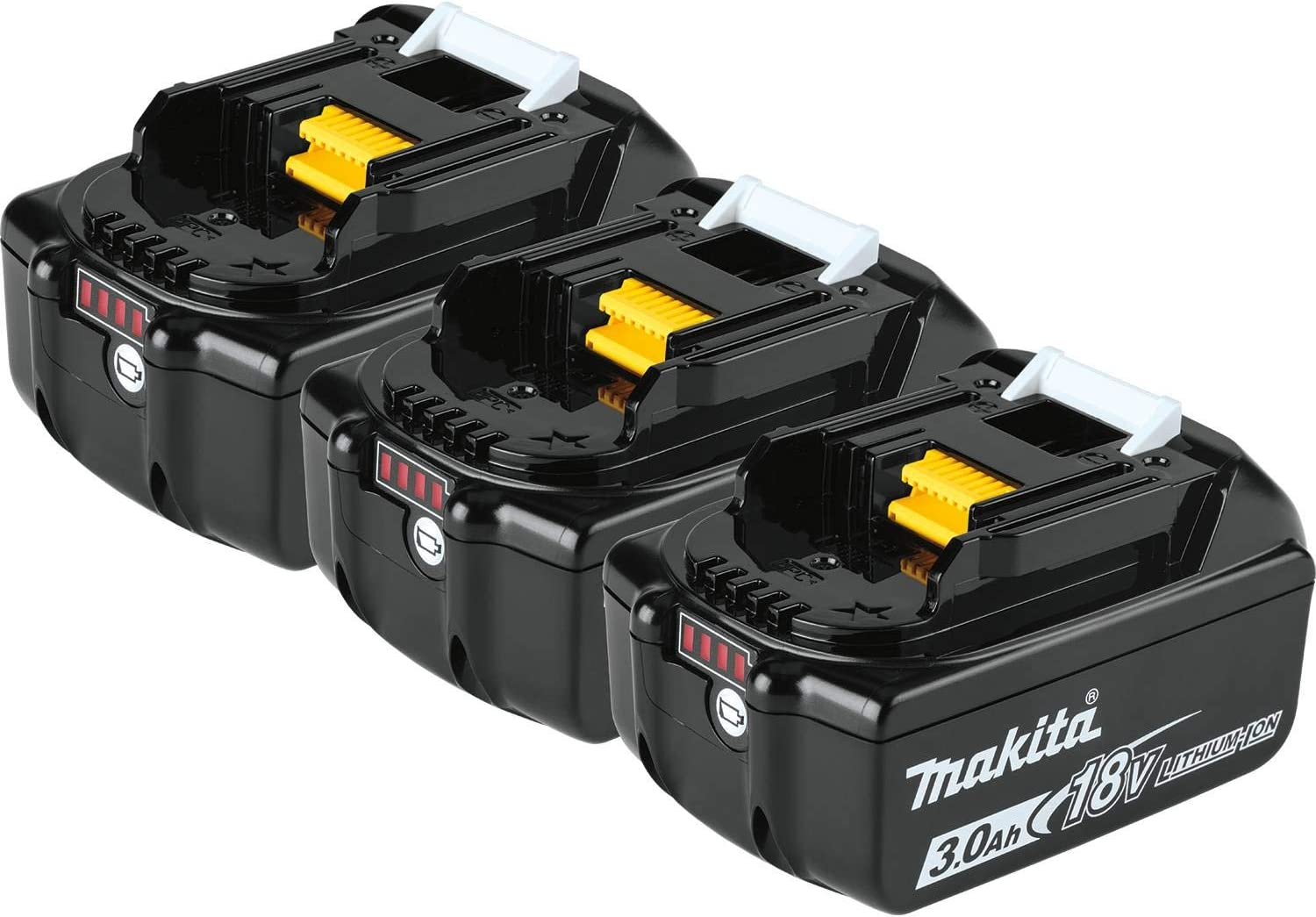 Makita BL1830B-3 18V LXT Lithium-Ion 3.0Ah Battery, 3/pk