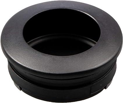 Gedotec H10305 - Tirador para puerta corredera (redondo, 40 mm de diámetro, para cajones y puertas de habitaciones), diseño antiguo, color negro mate: Amazon.es: Bricolaje y herramientas