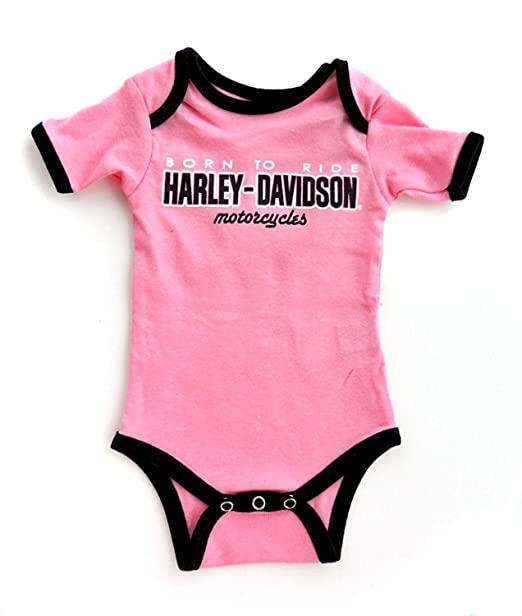Harley Davidson Baby Clothes Stunning Amazon Harley Davidson Baby Girls Pink Born To Ride Infant