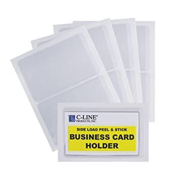 Amazon c line self adhesive business card holders side amazon c line self adhesive business card holders side loading 2 x 35 inches clear 5 packs 70238 5 transparent business card protectors colourmoves Choice Image
