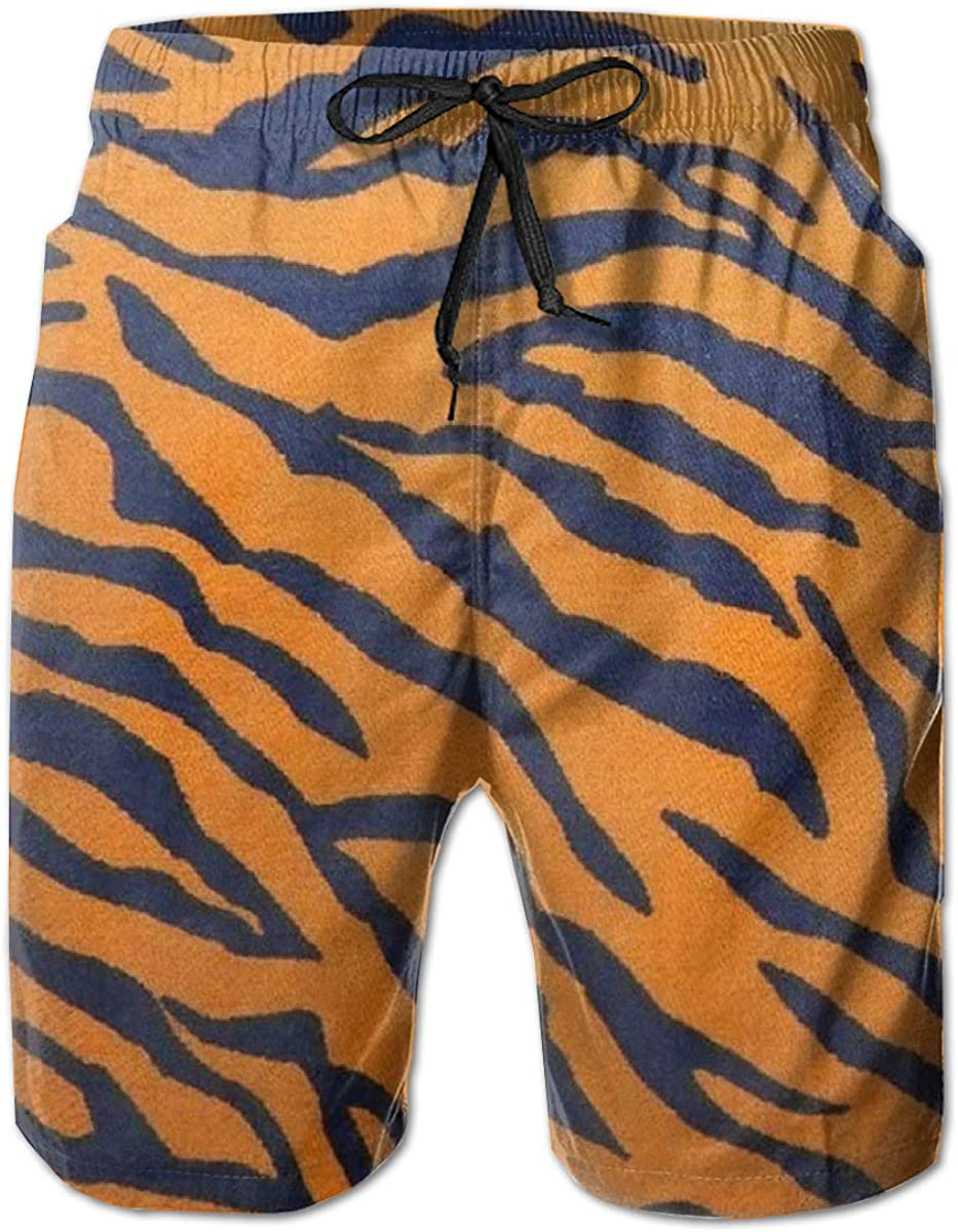 Fashion Bathing Suits with Pockets Yt92Pl@00 Mens 100/% Polyester Tigerpicturestoprint005 Swim Trunks
