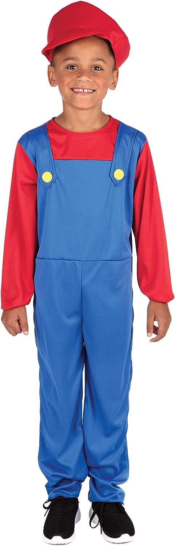 Ragazzi Bambini Super Workman Idraulico Costume Libro Settimana Vestito per bambini