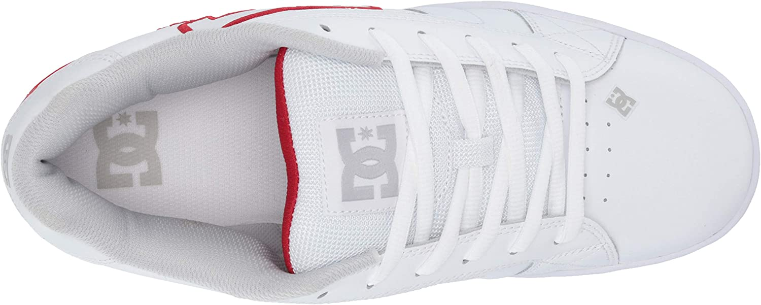 DC Shoes Net, Chaussures de skate homme White Athletic Red White