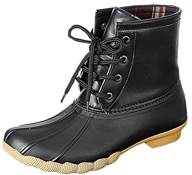 ff94e6819ea Refresh Women's Hunter-06 Waterproof Rubber Rain Ankle High Rain Duck Boots