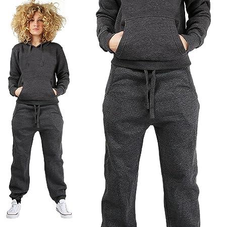 b14340a1e9e Women Ladies 2 Pc Hooded Plain 4 Pockets Full Length Tracksuit Upto 5XL 3  Colors (2X-Large