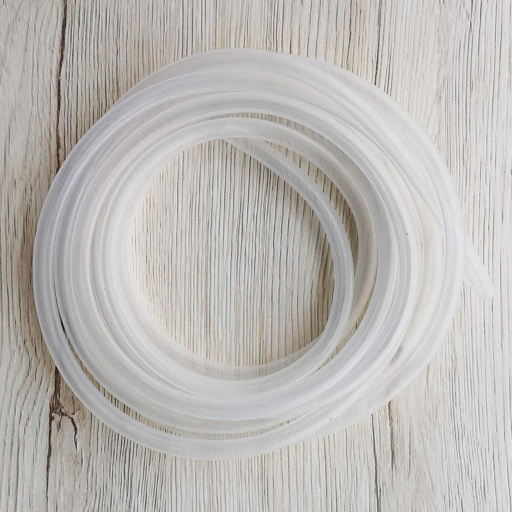 Yesallwas Tubo de silicona flexible tubo de goma de silicona manguera de aire de agua para bomba de transferencia