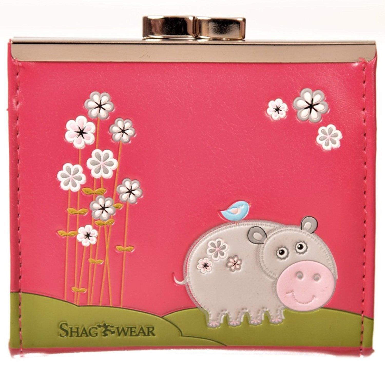 Shag Wear Women's Coin Purse Fuschia Hippo by Shag Wear