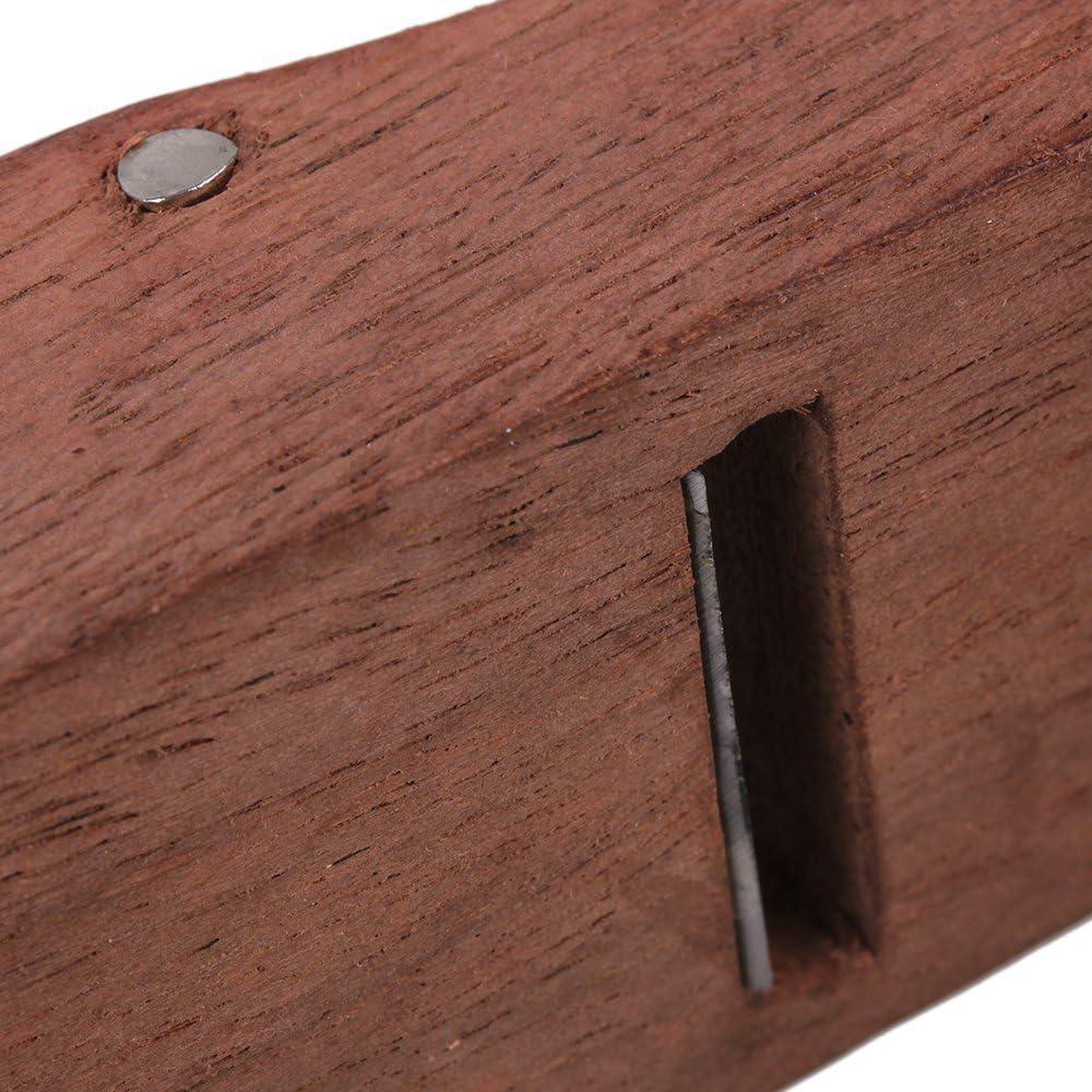 sgerste 10/cm marr/ón carpintero madera afeitado cepillo Mano Planer Shaver de carpintero avi/ón endurecido hoja DIY madera herramienta de trabajo