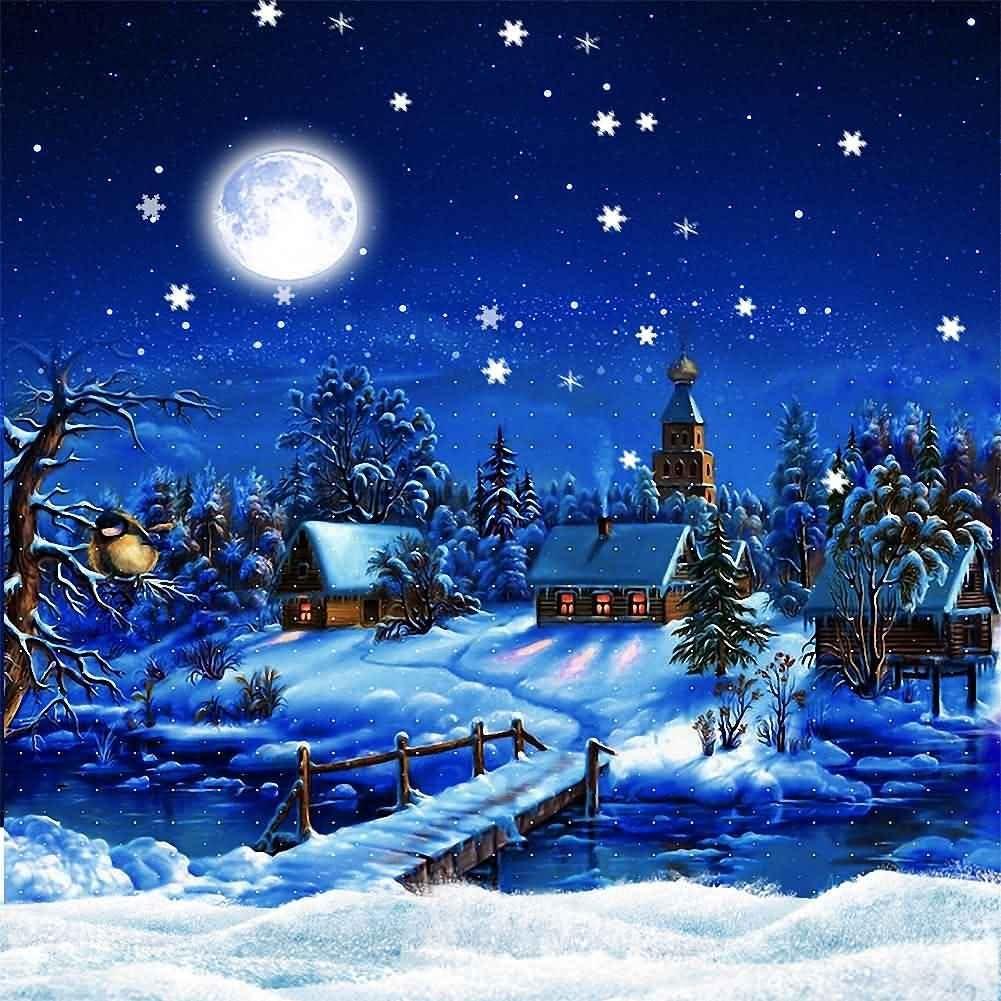 GladsBuy Crystal Snow 6 x 9 Digital Printed Photography Backdrop Christmas Theme Background YHA-027