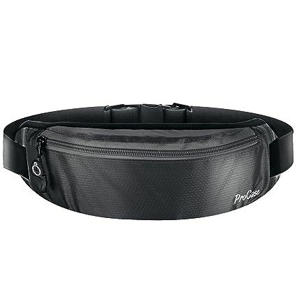 3c24879aec53 ProCase Running Belt Waist Pack, Sports Runner Bag Pouch Adjustable Fanny  Pack for iPhone and Other Smartphones, Sweatproof Workout Waist Bag for Men  ...