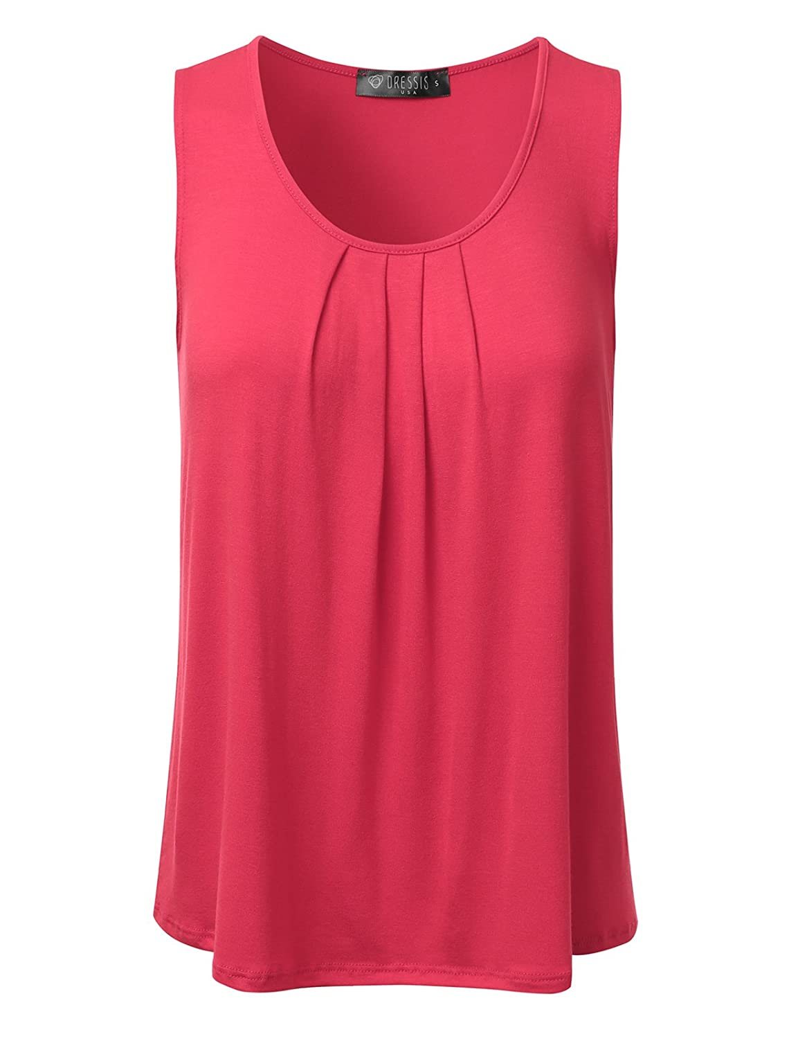 19b5c8eaf2 Simply designed Pleated Sleeveless Tank Top which is basic but stylish. /  Trendy and elegant item which is suitable for any occasion. Women's Premium  ...