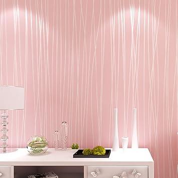 XIASDL Schlafzimmer Wohnzimmer Modern Und Schlicht Mond Wald Tapete  Schlichte Farbige Vertikale Streifen Wand PVC Vliestapete
