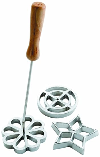 IBILI Rosette Iron Set of 3 Rose Molds Moulds, Flower, Circle, Star.