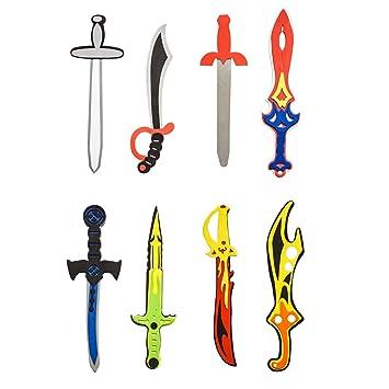 Angelica niños Set de espuma espadas armas de juguete para ...