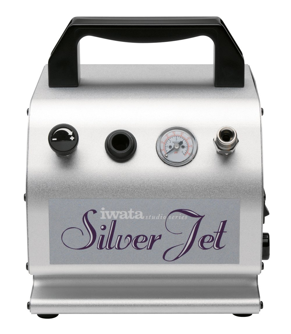 Iwata-Medea Studio Series Silver Jet Single Piston Air Compressor: Amazon.es: Oficina y papelería
