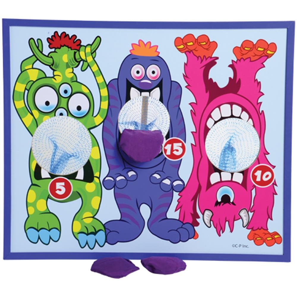 U.S. Toy Monster Themed Bean Bag Toss Cornhole Game Set With 3 Bean Bags