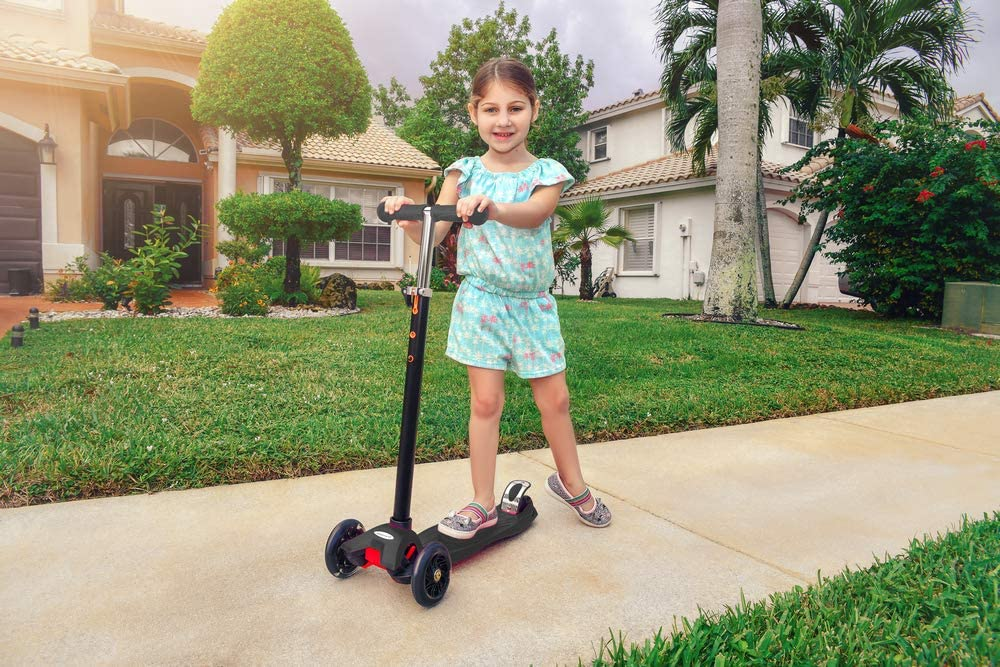 Adjustable Height MoBoard Kick Scooter with Extra Wide Deck for Kids /& Toddlers Girls or Boys of 2 to 14 Years Toddlers Training Three Wheeled Ride Lean to Steer with PU Wheels
