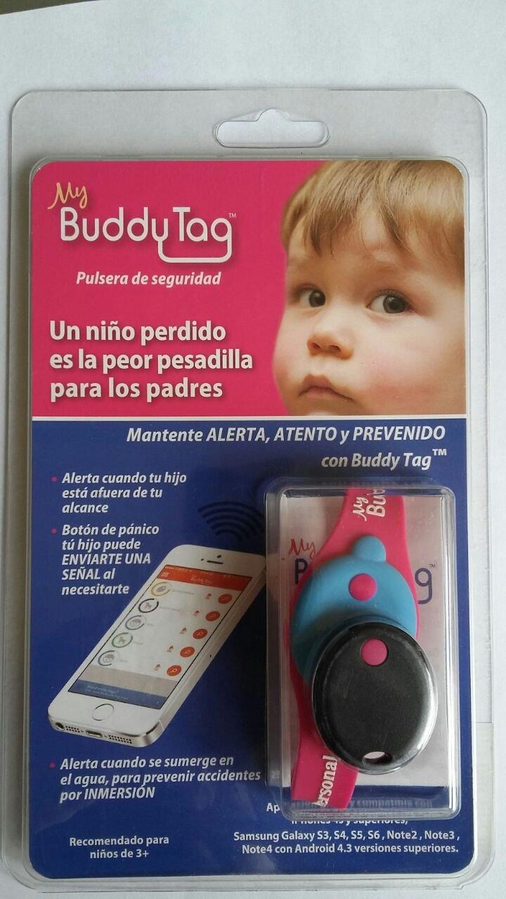 c55d458a6f8c My Buddy Tag Pulsera de Seguridad para Niños Silicon-Rosa