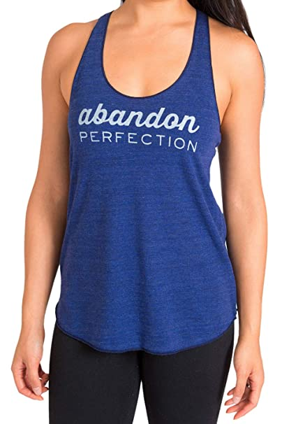 Inner Fire Womens Racerback Yoga Tank Tops (Abandon Perfection)