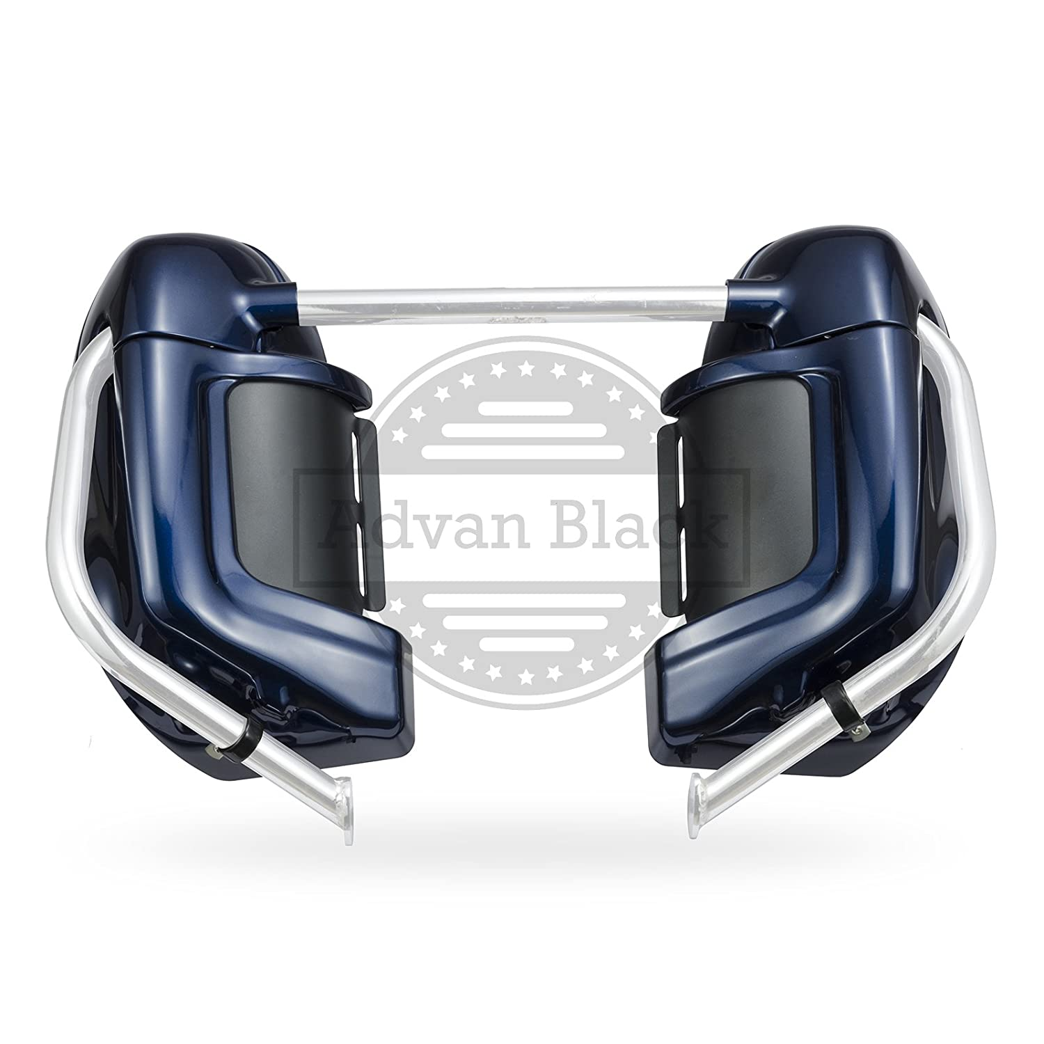 Superior Blue Pre-Rushmore Lower Vented Leg Fairing Kits Glove Box For 1983-2016 Harley Davidson Touring Road Glide Special