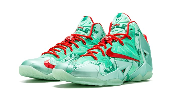 ... Amazon.com Mens Nike Lebron XI Basketball Shoes - 616175 301 Basketball  online here 3070f  item 2 NIKE LeBron 11 XI Christmas Green Glow Red ... 894e18456