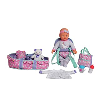 """DREAM COLLECTION 16"""" Baby Doll Travelling Set in Blue"""
