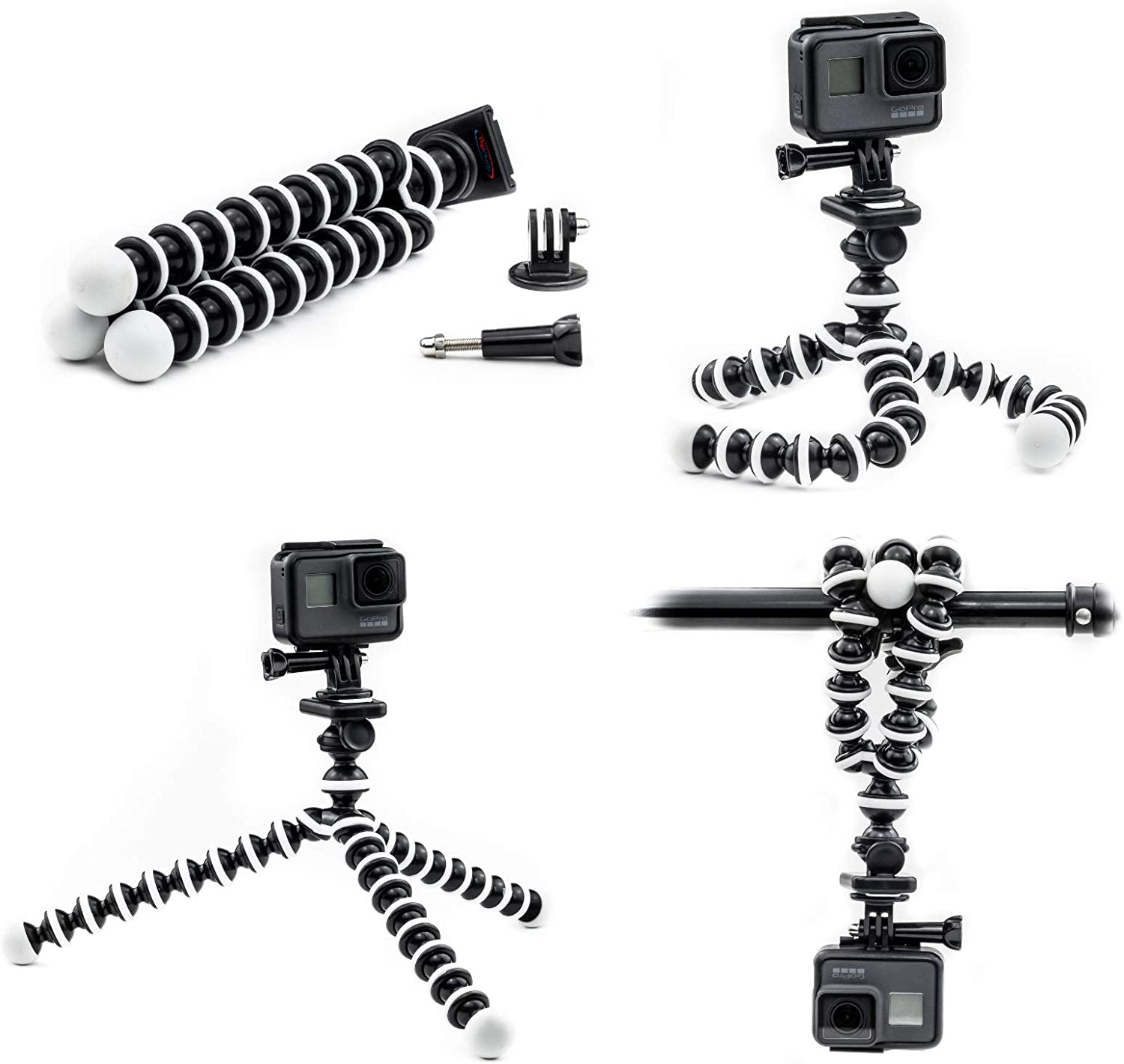Suitable for SLR Multi-Camera Multi-Function Anchor Network Red Video Triangle Bracket QOUP Camera Tripod 4-Legged Three-Way Rotating Disc Tilting Head
