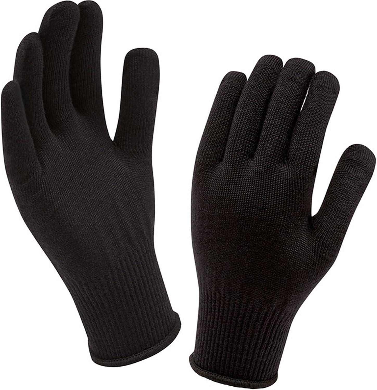 Sealskinz Merino Gloves Liner One Size Black Amazon Co Uk Sports Outdoors
