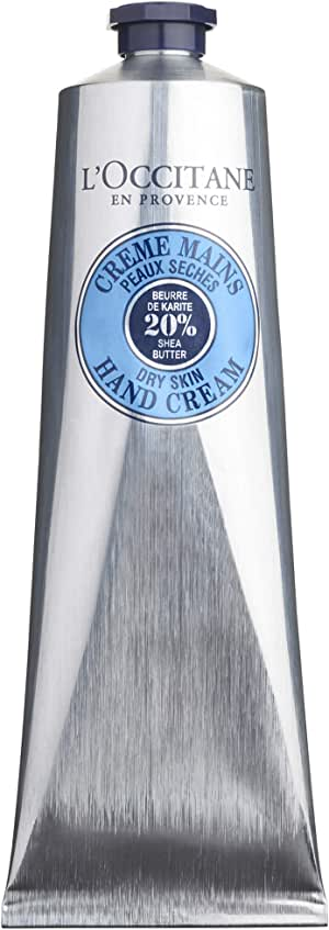 L'Occitane Fast-Absorbing 20% Shea Butter Hand Cream, 5.2 fl oz (150 ml), (Pack of 1)