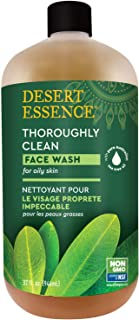 product image for Desert Essence Thoroughly Clean Face Wash - Original - 32 Fl Oz - Tea Tree Oil - For Soft Radiant Skin - Gentle Cleanser - Extracts Of Goldenseal, Awapuhi, Chamomile Essential Oils