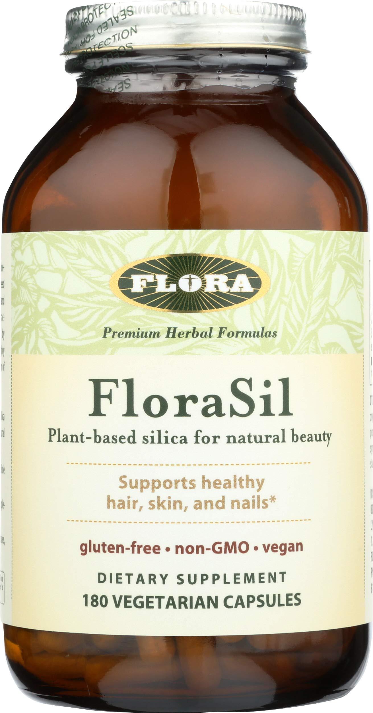 Flora, FloraSil, Plant Based Silica for Natural Beauty, 180 Veggie Caps