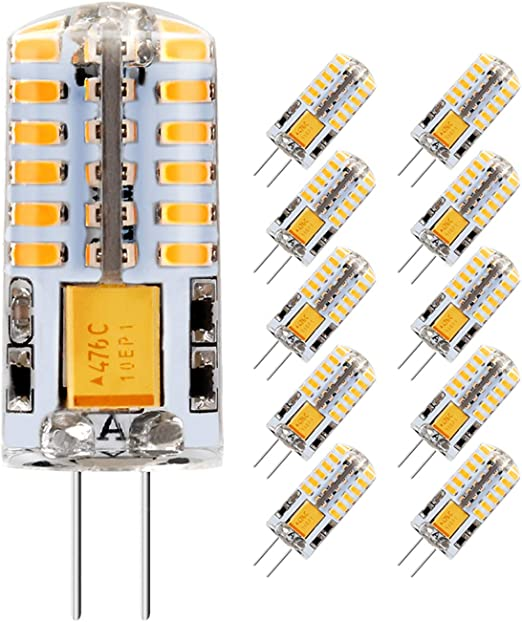 5er 3W G4 LED Lampe Ersatz für 20W Halogenlampen,12V AC 300LM DC Warmweiß