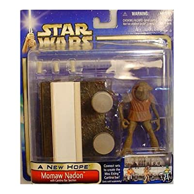 Star Wars A New Hope Saga 2002 Momaw Nadon Exclusive Action Figure: Toys & Games