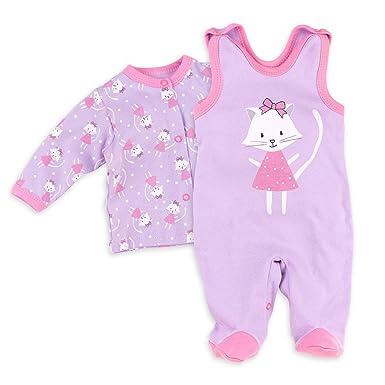 9a3caa93cd Baby Sweets Baby Set Strampler + Shirt Mädchen Flieder   Motiv: Sweet Kitty    Babyset