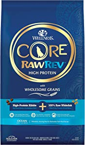 Wellness CORE RawRev Wholesome Grains Dry Dog Food, Ocean Recipe, 18 Pound Bag