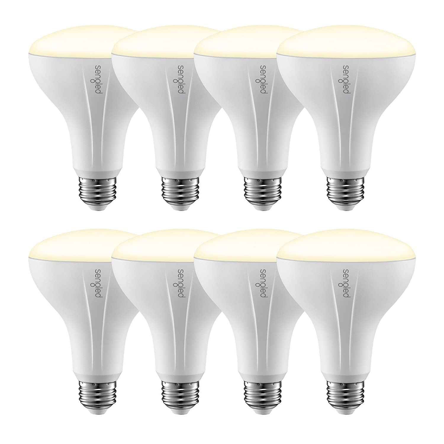 Element Classic by Sengled - BR30 Soft White 2700K Smart LED Bulb (Hub Required), Works with Alexa, Google Assistant, Echo Plus & SmartThings - 8 Pack