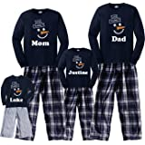 Footsteps Clothing Happy Snowman Personalized Love Your Family Adult Pajamas & Kids Playwear