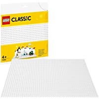 LEGO Classic White Baseplate 11010 Creative Toy for Kids, Great Open-Ended Imaginative Play for LEGO Builders