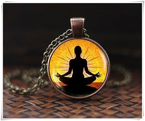 Colgante de meditación de yoga, regalo de joyería de yoga ...
