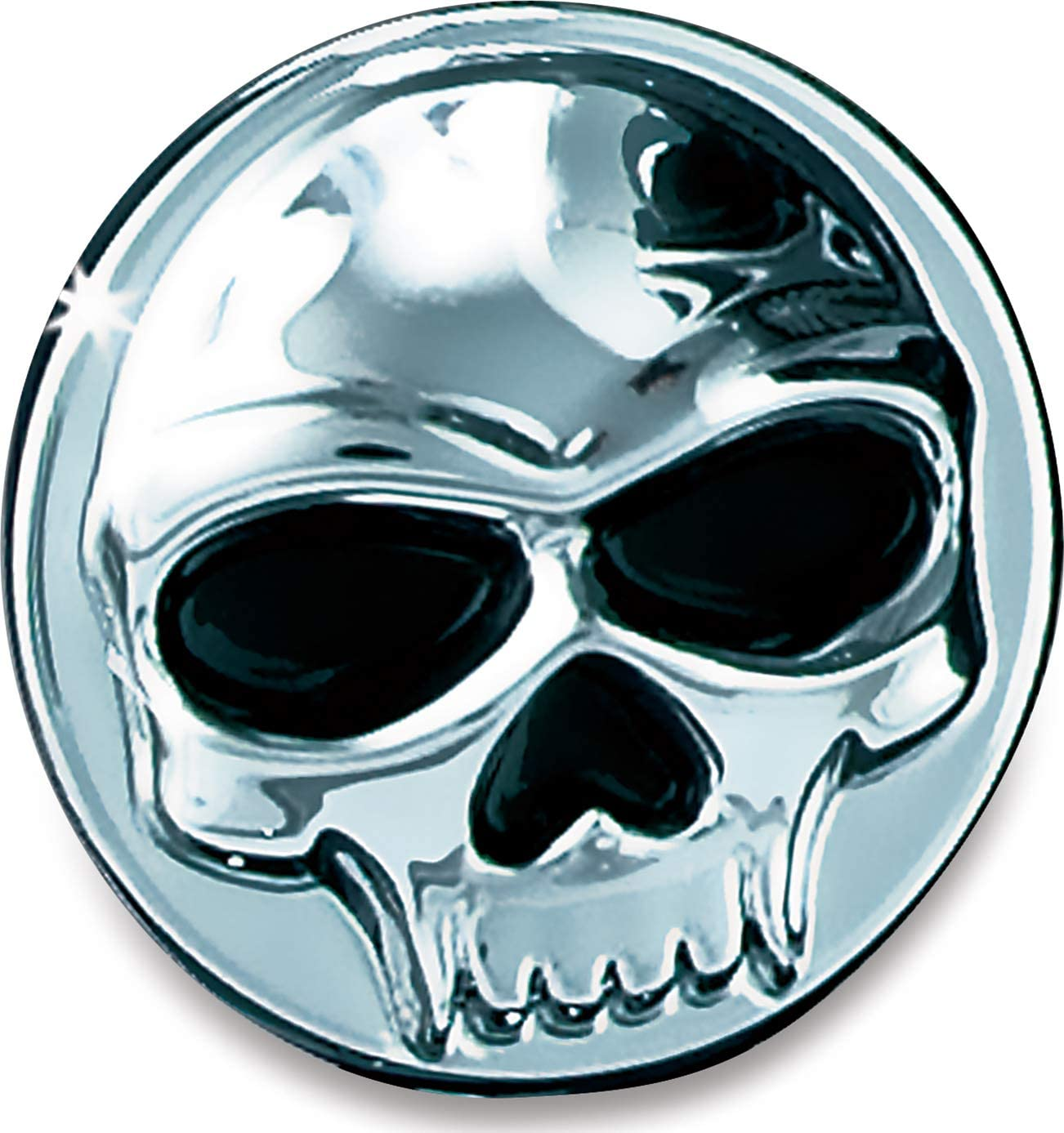Chrome Pack of 1 Replacement Zombie Skull Emblem for Foot Pegs Kuryakyn 4473 Motorcycle Accent Accessory