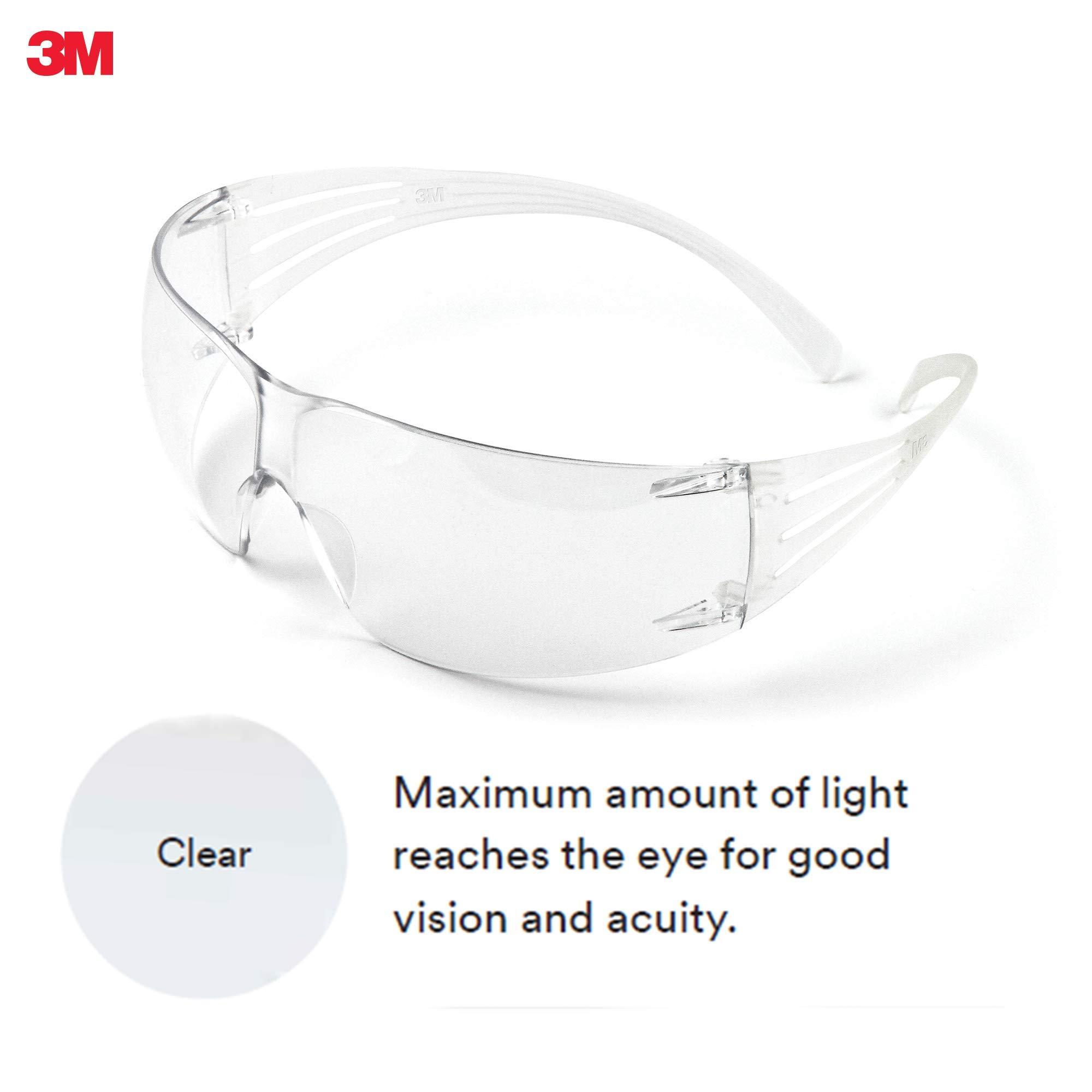 3M SecureFit, Protective Eyewear, SF201AF, CLEAR