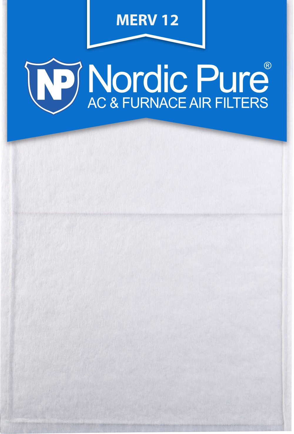 Nordic Pure 10x24x1 Exact MERV 11 Pleated AC Furnace Air Filters 2 Pack