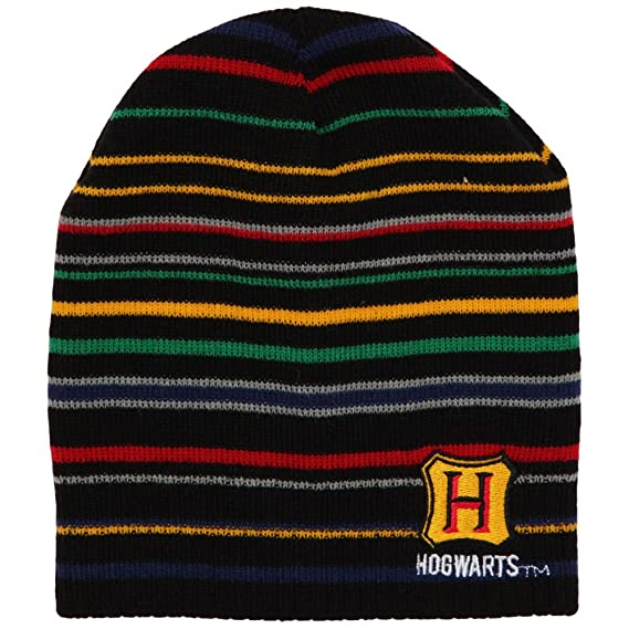 167de9b7 Harry Potter Hogwarts Striped Knit Beanie Winter Hat: Amazon.in: Clothing &  Accessories